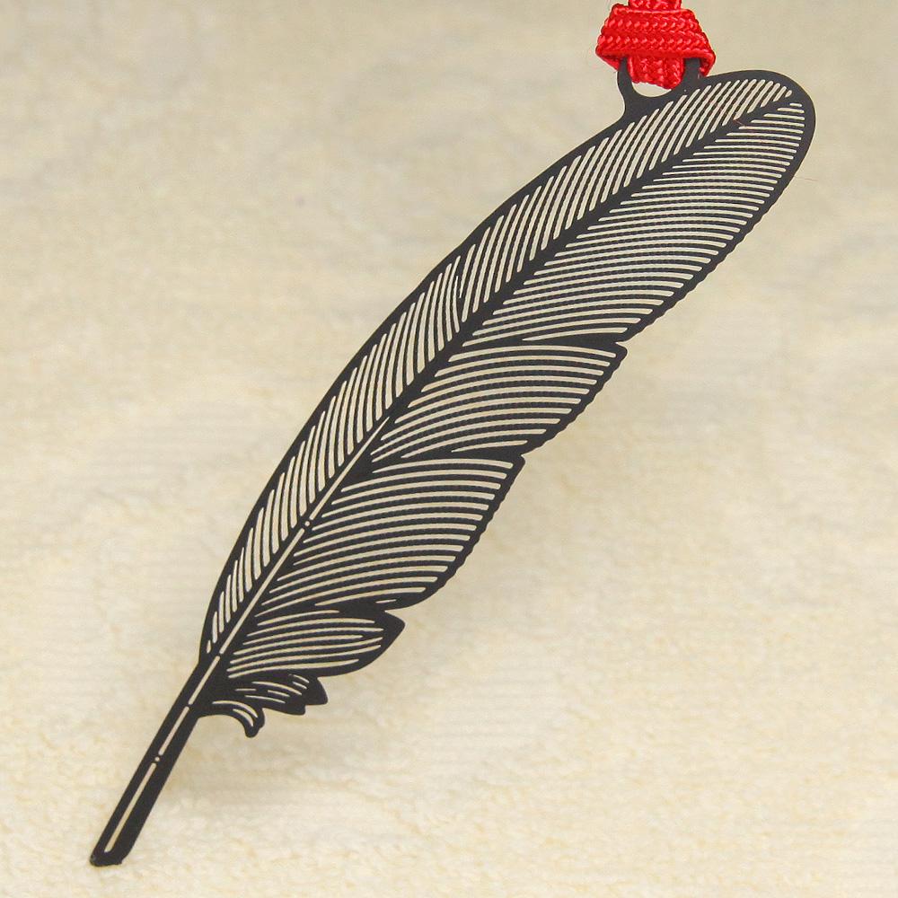 デザインブックマーク「羽根ペン」