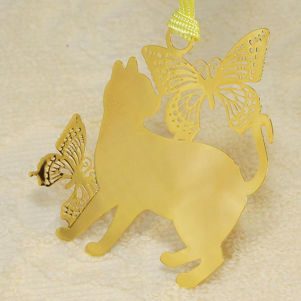 キャットブックマーク「猫と蝶G」