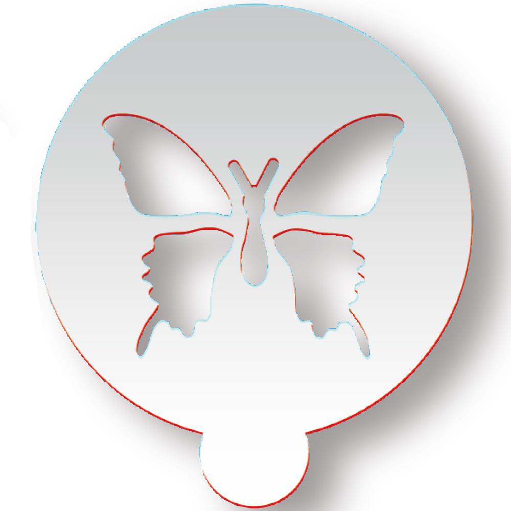 ラテアートステンシル 蝶