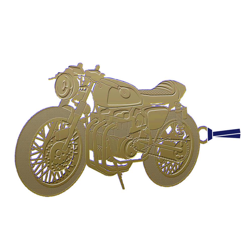 レトロブックマーク「クラシックバイクB(G)」
